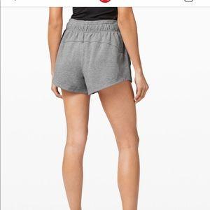 "Black Inner glow 3"" terry lululemon shorts"